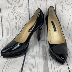 GIANFRANCO FERRE Patent Leather Cone Heels 39